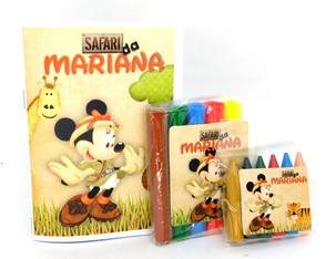 Baby Kit colorir e Modelar - Minnie Safari - qualquer tema