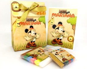 Kit Colorir e Modelar Sacolinha Luxo P - Minnie Safari