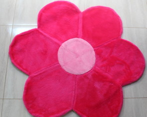 BLACK FRIDAY Tapete de Pelúcia Flor Rosa Pink