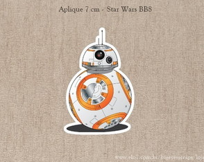 Aplique 7 cm Star Wars - BB8