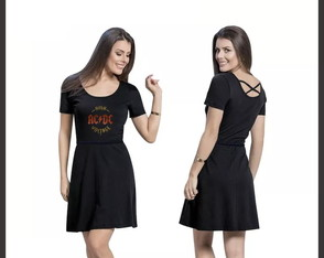 Vestido Rock AC/DC High Voltage