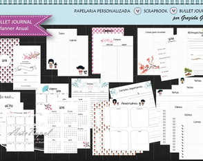 Arte Digital - Bullet Journal - Planner Anual Kokeshi
