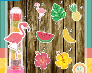 Apliques Flamingo / Festa Tropical