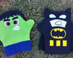Fantoches Hulk e Batman