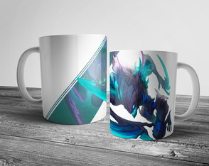 Caneca League of Legends Kha'zix Florescência Mortal 325ml
