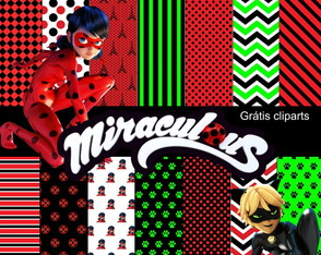 Kit Papel Digital Miraculous - ladybug
