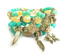 Mix de pulseiras light blue
