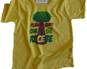 Camiseta Infantil malha PET Plantando AM