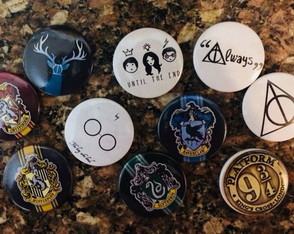 Kit 10 Bottons / Broches Harry Potter