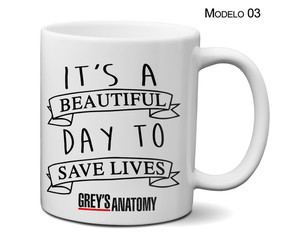 Caneca Grey's Anatomy It's A Beautiful Day To Save Lives
