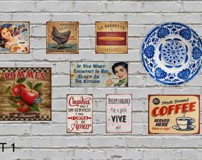 9 Placas Decorativas Cozinha