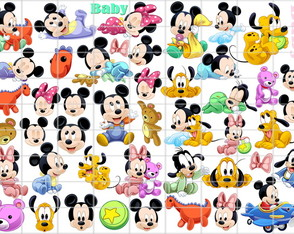vetor corel imagens png mickey minnie baby