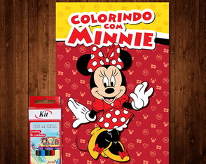Livro de Colorir do Minnie (Giz de Cera)
