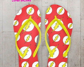 Chinelo Personalizado Flash, Logos