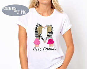 Camiseta Baby Look Best Friends