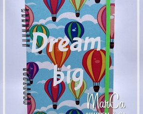 Caderno Dream Big - balões