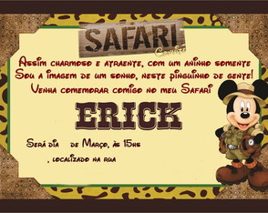 Convite digital Mickey Safari