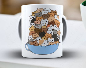 Caneca gatos - cód: 1544g cat lover