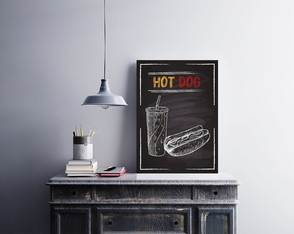 "Placa decorativa MDF ""Hot Dog"""