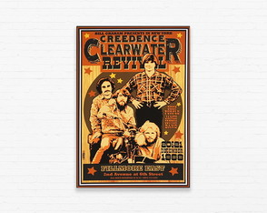 Quadrinho 19x27 Creedence Clearwater Revival