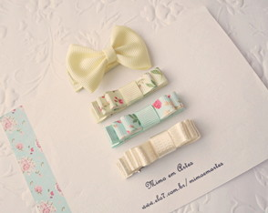 Kit Hair Clip Baby Amarelo