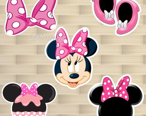 Aplique para toppers Minnie rosa
