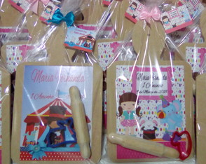 Brindes Circo Rosa - Kit de Massinha