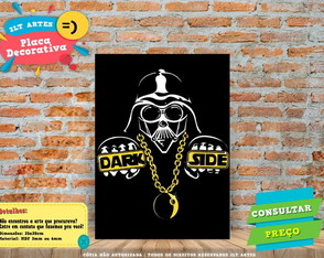 Placa Decorativa - Dark Side STAR WARS - REF0003