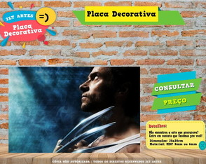 Placa Decorativa - Wolverine - REF0016