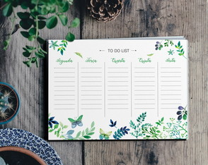 Arquivo Digital Planner Semanal -To do List A4 para Imprimir