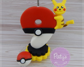 Vela decorada Pokémon - Pikachu