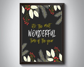 "Quadro moldura MDF ""It's The Most Wonderful Time"""