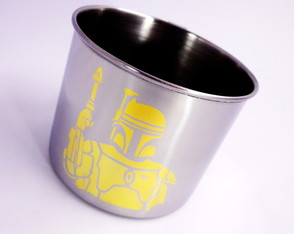 CANECA INFANTIL PERSONALIZADA OURO 24K STAR WARS