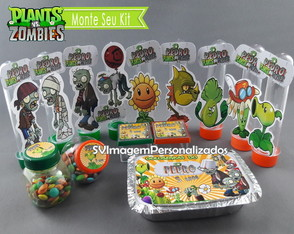 Monte seu Kit Festa Plants vs Zombies