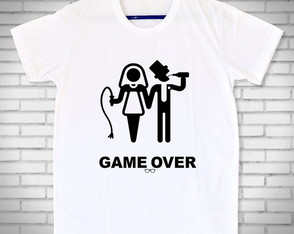 Camiseta Game Over Casamento Noivado Despedida Tradicional