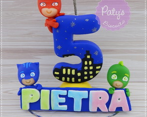 Mini topinho com vela PJ Masks