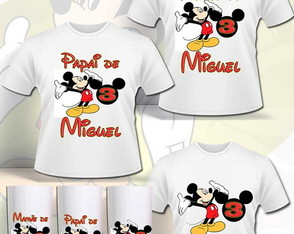 Kit Camisas familia Mickey
