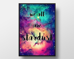 Quadro We all are stardust