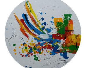 Abstrato Actiong Painting 17