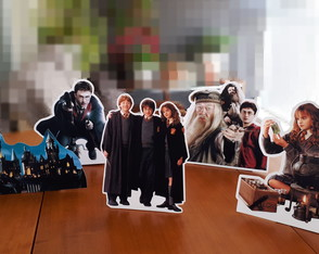 Display Papel Enfeite de Mesa Harry Potter Festa Aniversario