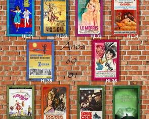 10 Quadros Decorativos Cinema Anos 60