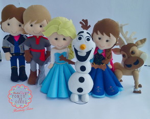 Kit Personagens Frozen Feltro