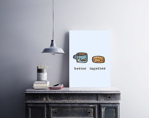 "Placa decorativa MDF ""Better Together"""