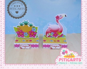 Porta Chocolate Duplo Flamingo