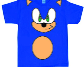 Camiseta Fantasia do Sonic