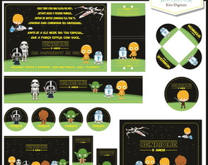 Kit Festa Digital (10 artes) Star Wars Baby