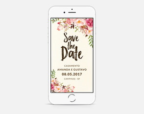 Convite Digital Save The Date/Reserve a Data