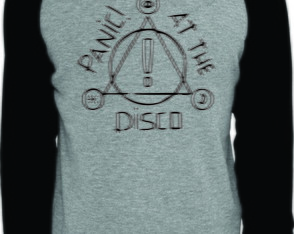 Camiseta Raglan manga longa Panic! at the Disco