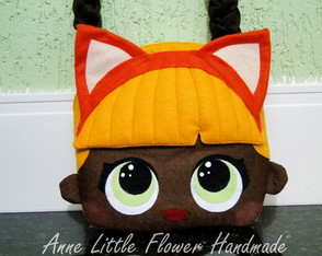 Mini Bolsa LOL Surprise Baby Cat Luxo de Feltro