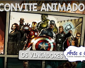 Convite Animado Os Vingadores em After Effects